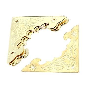 Patrón 8pcs Bat tono Archaize el filete de oro para madera decoración de la caja