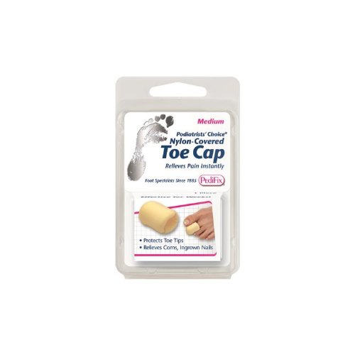 SPECIAL PACK OF 3-Nylon Covered Toe Cap Medium (Each) by Pedifix