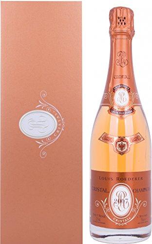 Roederer Louis Cristal Brut Rosé Champagner 2007 mit Geschenkverpackung (1 x 0.75 l)