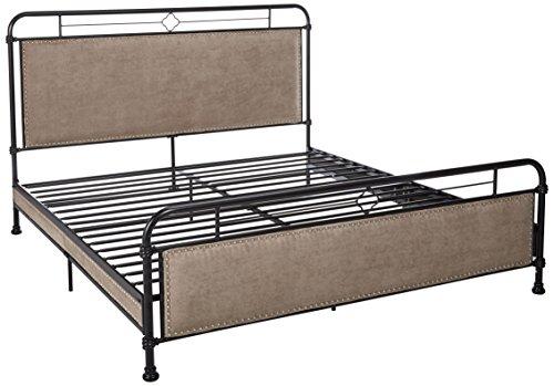Homelegance Tayton Platform Quatrefoil Metal Bed with Nailhe