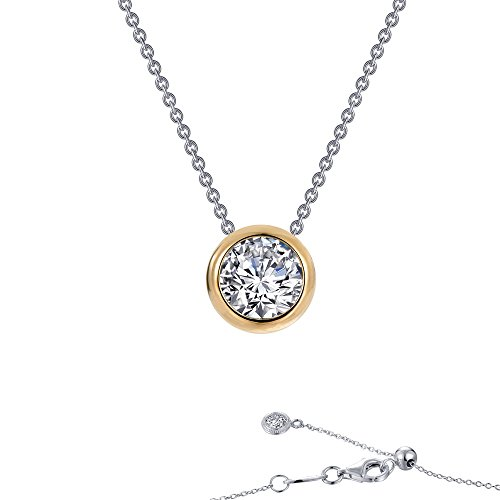 Lafonn Monte Carlo Sterling Silver 2-Tone Plated Simulated Diamond Necklace (0.71 CTTW)