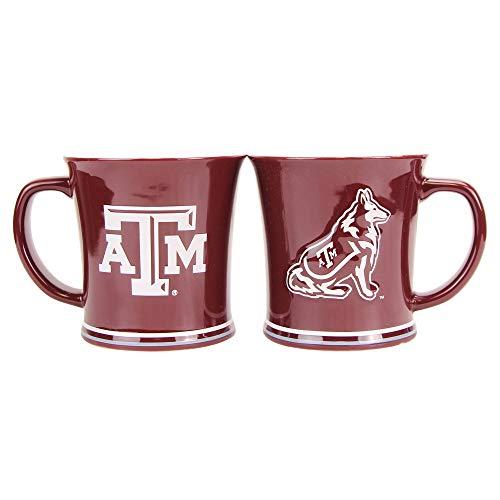 Boelter NCAA Collegiate 15oz Full Color Sculpted Coffee Mug 2-Pack (Texas A&M Aggies)