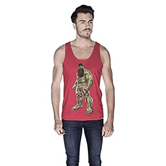 Creo Hulk Arab Super Hero Tank Top For Men - M, Pink