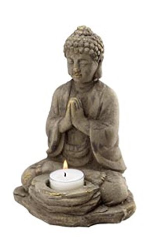 - Biedermann & Sons Stone Buddha Tealight Holder