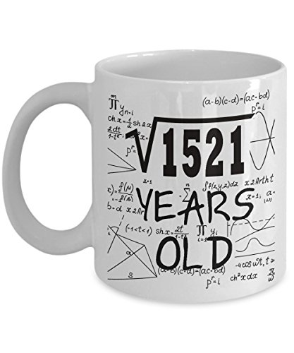 Math Formula Mug 11 OZ - Funny Math Gifts For Teachers, Students - Square Root Of 1521-1979, 39 Year Old Birthday - 39th Birthday Gifts Ideas For Women, Her, Wife, Guys For Birthday Or Mother's Day