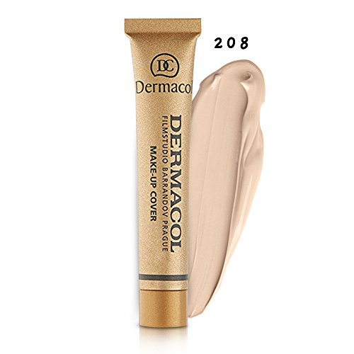 Dermacol Make-up Cover Full Coverage Foundation - 100% Original Guaranteed (BUY 3 AND GET 15ml SATIN MAKEUP BASE FREE) (208)