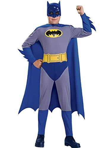 Batman The Brave and The Bold Batman Costume with Mask and Cape, Small (The Best Batman Costume)
