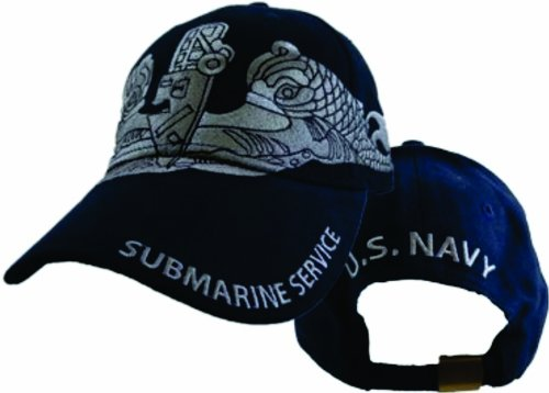 US Navy Submarine Service Enlisted Cap,Blue,One Size Fits Most (Submarine Hats)