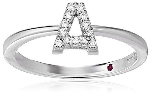 Roberto Coin Women's 001634AWLRXA Diamond Initial Ring, White, Size 7 ()