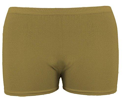 Donna Fashion Khaki The Mini Celebrity Pantaloncini Elasticated Waist Active Length wBqnTtR