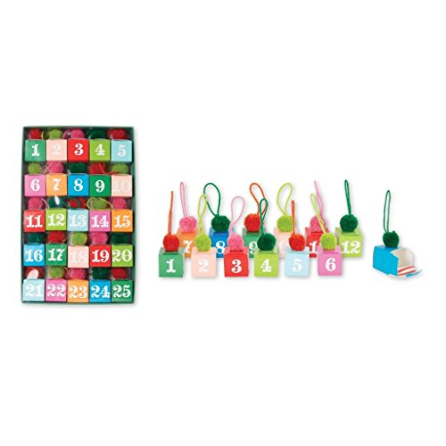 Advent Calendar Christmas Countdown Hanging Mantle Decoration with Gift or Treat Box -Just add a gift or treat