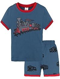 Baby Clothes, Summer 2Pcs Toddler Kids Baby Boys Pajamas Train Print Tops Shorts Set