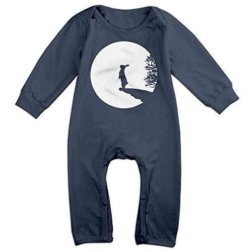 [Baby Infant Romper Bunny Moon Long Sleeve Playsuit Outfits Navy 24 Months] (Bunny Leotard Costume)