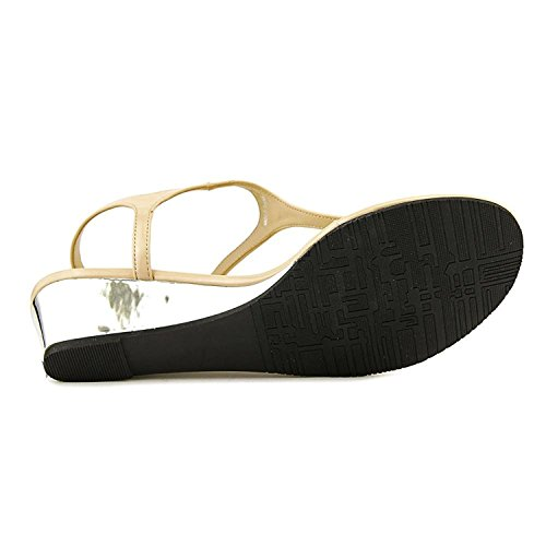 Callisto Spring Synthetik Keilabsätze Sandale Nude Patent