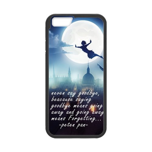 Case for iPhone 6(5.5inch)and iPhone 6s Plus, 6s Plus Cover,Black/White Sides,Hign Quality Rubber iphone6 plus Cases ,Peter Pan 6s Plus Cover