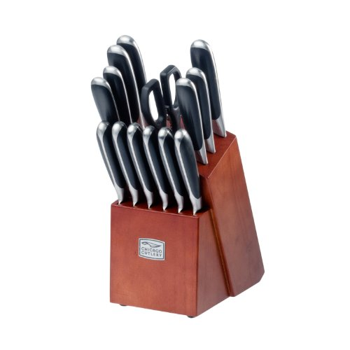 Chicago Cutlery Belden High-Carbon Stainless Steel Knife Block Set (15-Piece) by Chicago Cutlery (Image #1)