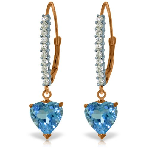 Prices for Diamond Heart Leverback Earrings - 8