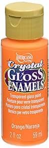 DecoArt Americana Crystal Gloss Enamels Paint, 2-Ounce, Orange