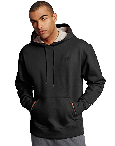 - Champion Men's Powerblend Fleece Pullover Hoodie_Black_XL