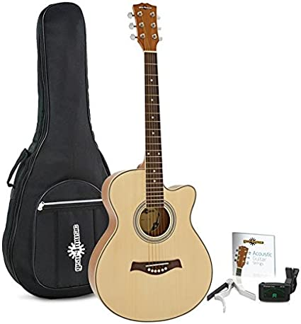 Pack de Guitarra Acustica Single Cutaway de Gear4music - Natural ...