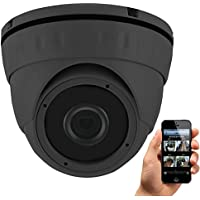 HDView 4MP Megapixel HD IP Network Camera WDR Motion Detection SD Card Audio Support Wide Dynamic Range IR Cut Filter Infrared Eyeball Dome PoE ONVIF 3.6mm Grey