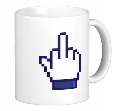 0197 Facebook dedo medio 11 onzas Taza de café de cerámica - apto ...