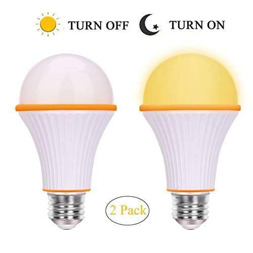 Goodnight Amber Light Bulbs, SONSY HOME 3-Way LED A19 Light Bulbs, 3/6/9 Watt Dimmable with E26 Base, Warm Night Light, Blue Light Blocking Bulbs for Bedroom(2 Pack)
