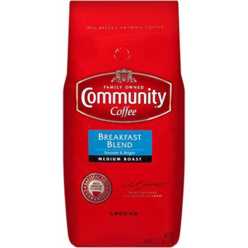 Community Coffee Premium Ground Coffee, Breakfast Blend Medium Roast, 40 Ounce