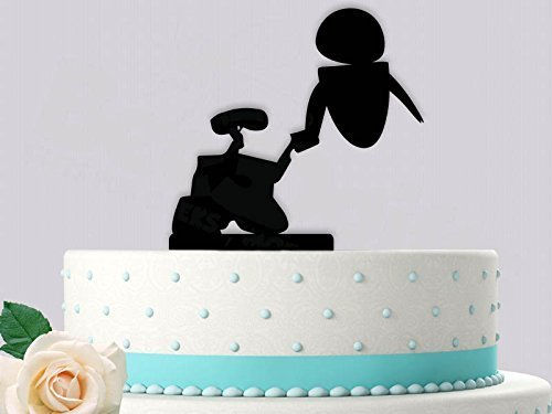 Wall E And Eve Inspired Wedding Cake Topper