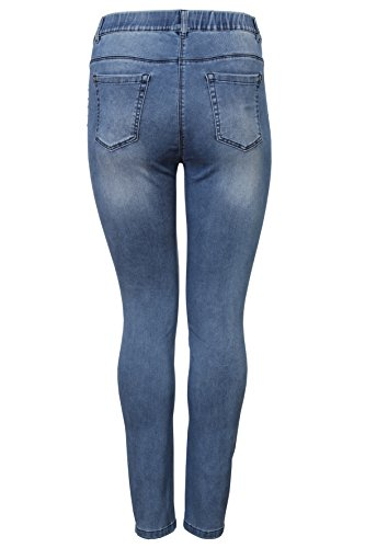 Donna Appia Via Jeans Mittelblau Due Attillata g4qIwnST6