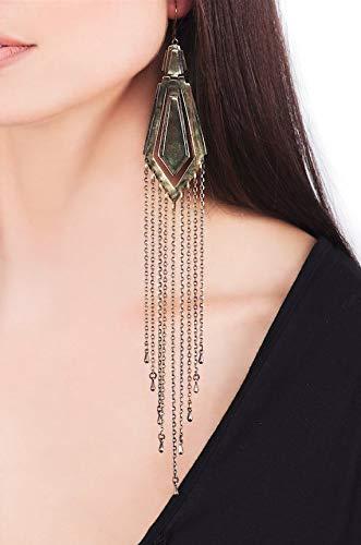 Amazon Com Tali Arrow Raindrop Brass Earrings With