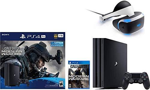 Newest Sony PlayStation 4 Pro 1TB Console Call of Duty: Modern Warfare Bundle W /PlayStation VR Core Headset (Renewed)
