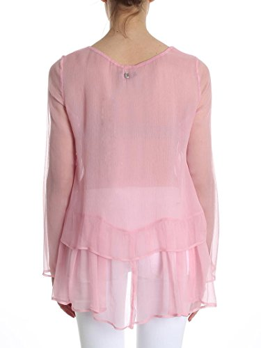 Size Seta Pink Blusa Ps8224 Twin Trasparente 40 In Set HHZ4a