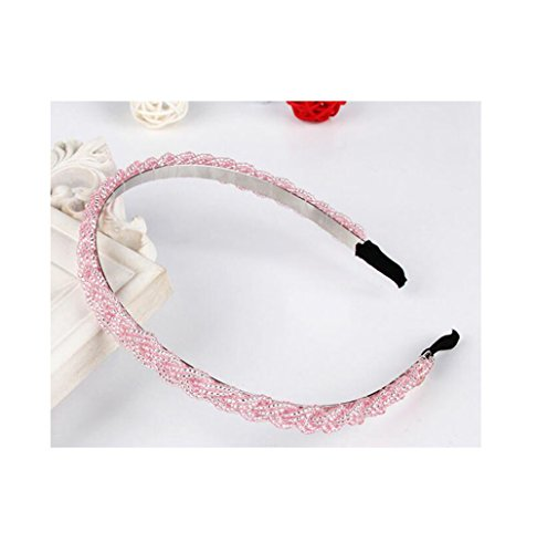 [Red Ape Women Rhinestone Beaded Crystal Headbands Hair Band,Sweet Handmade Hair Band, Pink] (2016 Womens Halloween Costumes Diy)