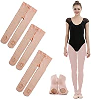 iMucci 3 Pairs Ballet Dance Tights - Velet Convertible Ballerina Dancing Stockings