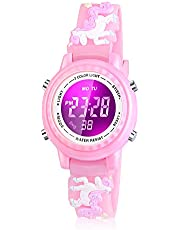 Viposoon Kids Watch, 3D Cartoon Waterproof Watch with 7 Color Lights and Alarm - Best Gift