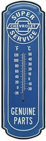Mancave Decor Metal Thermometer … Chevrolet Super Service Garage