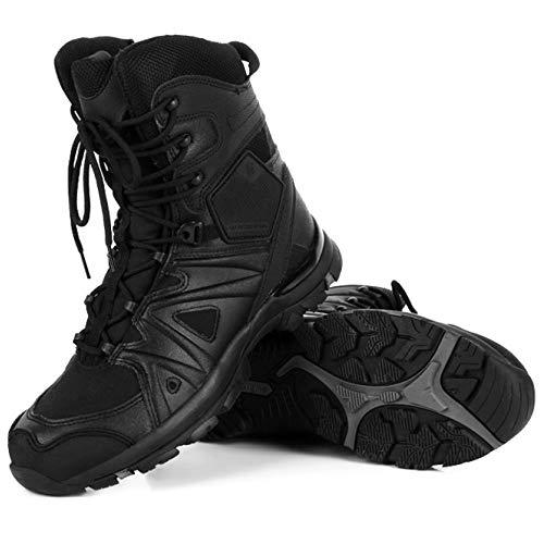 Polizia Combat High per Militare Assault Speciali da L'esercito Uomo Stivale Alpinismo Tattiche Sicurezza Sportive Top ASJUNQ Tattiche Black Forze Esercito Scarpe fP76nt
