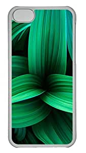 iPhone 5C Cases & Covers -Green Plant Leaves Custom PC Hard Case Cover for iPhone 5C ¨CTransparent