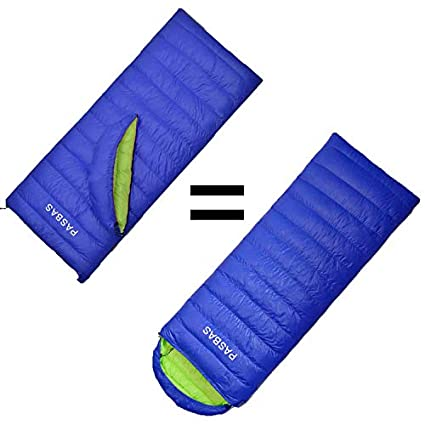 PASBAS - Saco de Dormir de plumón, 3 Estaciones, Ultraligero, Impermeable, con