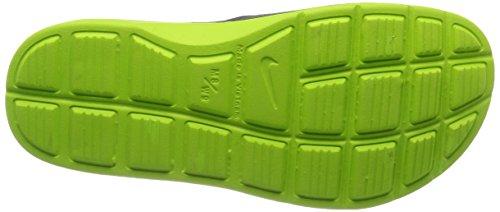 Nike Solarsoft Slide Zapatillas de deporte, Hombre Gris / Verde (Dark Grey / Volt-Volt)