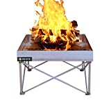 Campfire Defender Protect Preserve Pop-Up Fire Pit - Portable Outdoor Fire Pit Clean Burn Tech, Less Smoke - Never Rust Full-Size Fire Pit - US Forest Service and B.L.M. Fire Pan Approved
