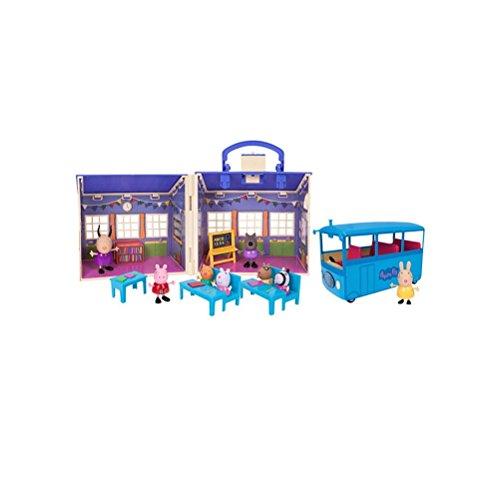 Peppa Pig Peppa's Back To School Playset Bundle with School Bus (Pig Classroom Playset Peppa)