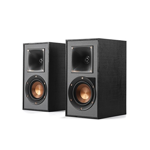 Klipsch R-41PM Powered Flexible Bookshelf Home Speaker Set of 2 Black