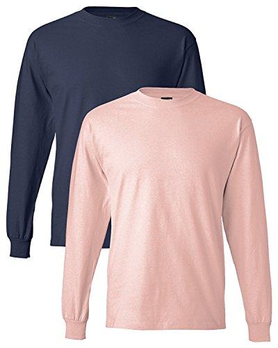 Hanes Adult Beefy-T Long-Sleeve T-Shirt (V-neck Hanes Womens Short)
