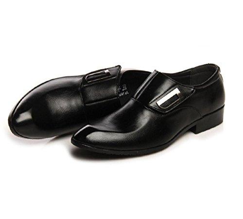WZG zapatos casuales de la moda de los nuevos hombres de Inglaterra señaló los hombres poner un pie zapatos zapatos de la boda zapatos de peluquero Black