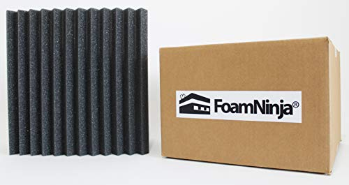 (FoamNinja Studio Foam Acoustic Panels Soundproofing Economy (48 Pack)