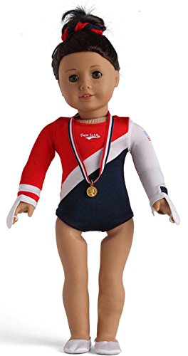 Ag Glove (Ebuddy Gymnastics Sports Clothes+gold Medal+shoes+gloves Clothes Fits 18 Inch Doll)