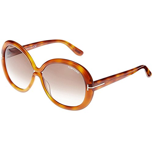 Tom Ford Womens Gisella Oversized Gradiant Round Sunglasses Brown - Discount Sunglasses Ford Tom