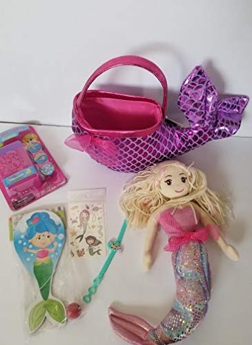 Queen of the Castle Mermaid Themed Easter Basket Includes Mermaid 15'' Tall with Curved Tail by Queen of the Castle (Image #4)